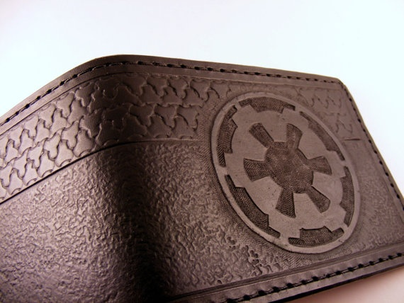 Hand-Tooled Star Wars Imperial Cog Leather Wallet