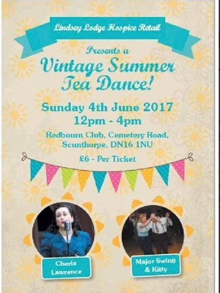 Have you got your ticket for our Vintage Summer Tea Dance on June 4th? Major Swing and Kitty will be will be there to get the dancing going and for this event only Miss Cherie Lawrence will be wowing us with her wonderful singing. Tickets are priced at £6.00 and are available from all our Hospice shops, by telephone on 01724 854824 or our online shop at http://www-hospiceshop-org-uk.wwwpreview.ct512558.c-pos.co.… See you all there 🙂