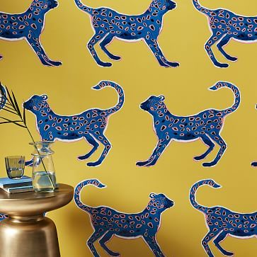 Big Cheetah Wallpaper Panels #westelm