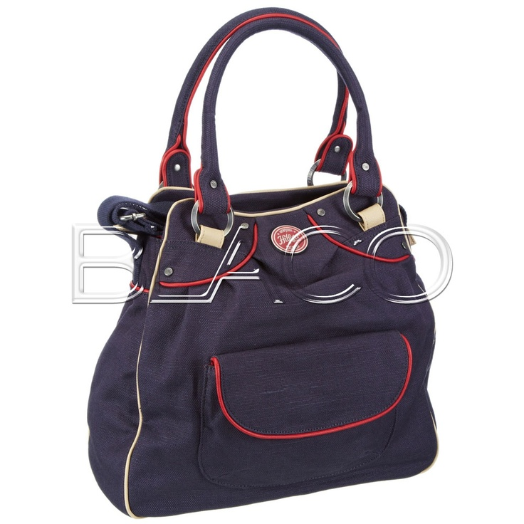 Tommy Hilfiger Lila Linen Tote Ombre Blue/Chili Pepper/Moonbean