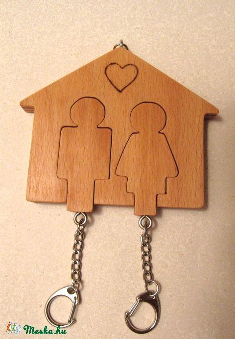 Házikó formájú kulcstartó , Otthon, lakberendezés, Dekoráció, Tárolóeszköz…