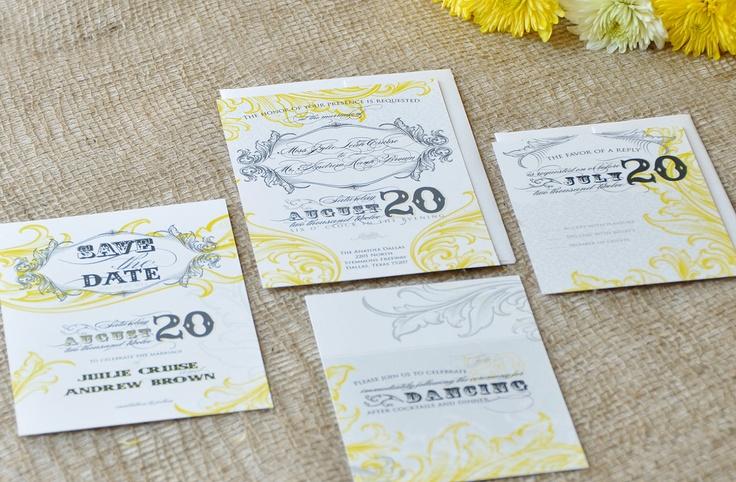 Banker Man Wedding Invitation & RSVP. $3.50, via Etsy.