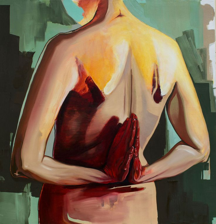Blood is LIfe oil on canvas, 140x135cm fajcikova.com