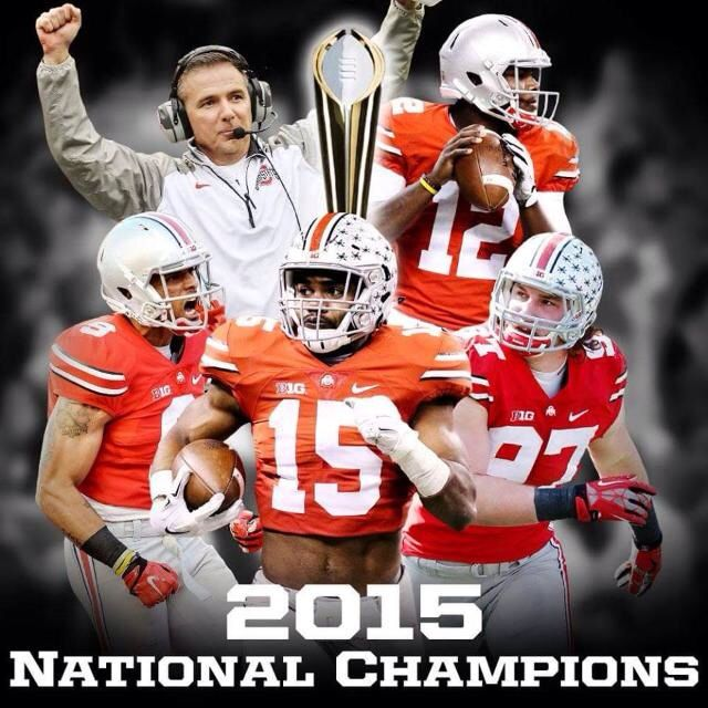 The Ohio State Buckeyes win the 2015 College Football National Championship over Oregon 42-20.