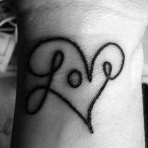 i hate tattoos but i love the way the word is written