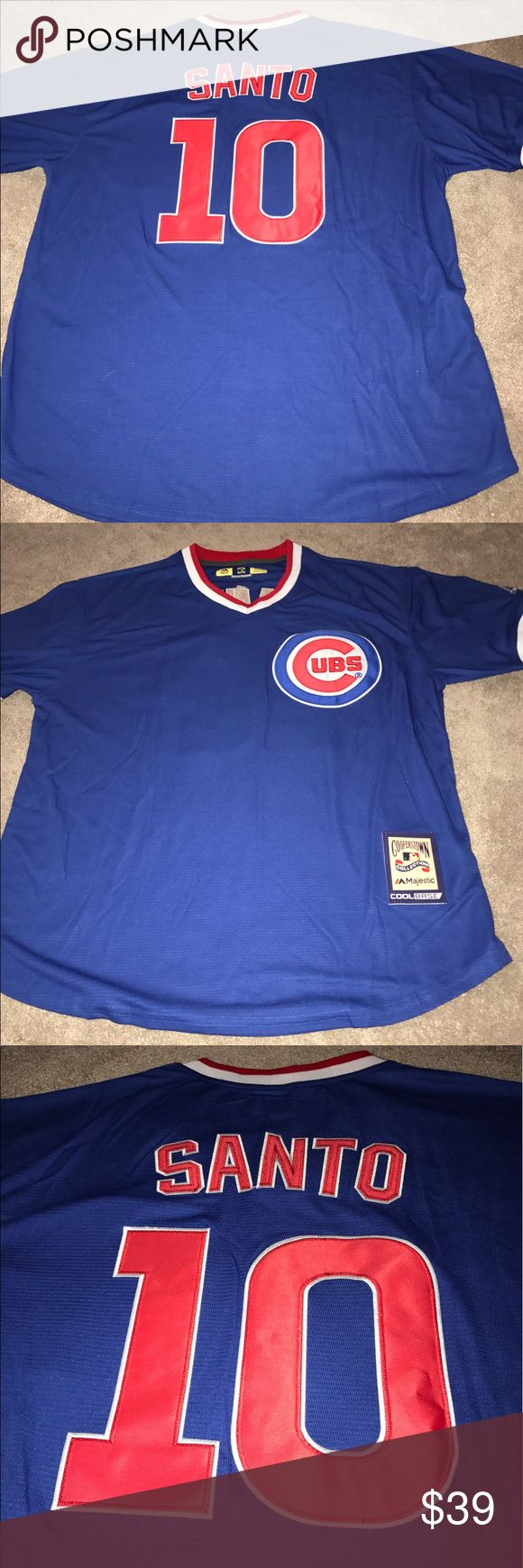 Chicago Cubs Ron Santo 1984 Throwback Jersey XL Chicago Cubs 1984 Ron Santo throwback jersey. Made by Majestic Athletic, brand new with tags, fully embroidered, size XL. Check my other listings for more Cubs merchandise! Men, Women, Kids and Throwbacks! Majestic Shirts Tees - Short Sleeve