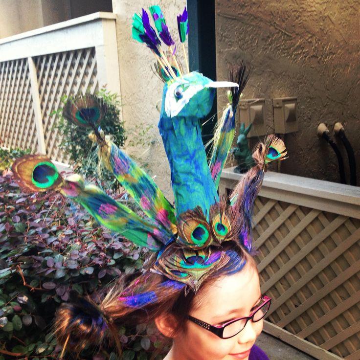 Crazy hair day peacock