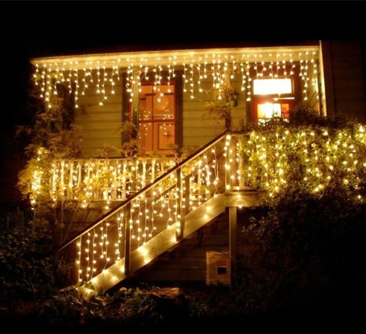 Christmas New Year Wedding Garden garland 0.3-0.5 m curtain hanging 22OV/110V #coolo