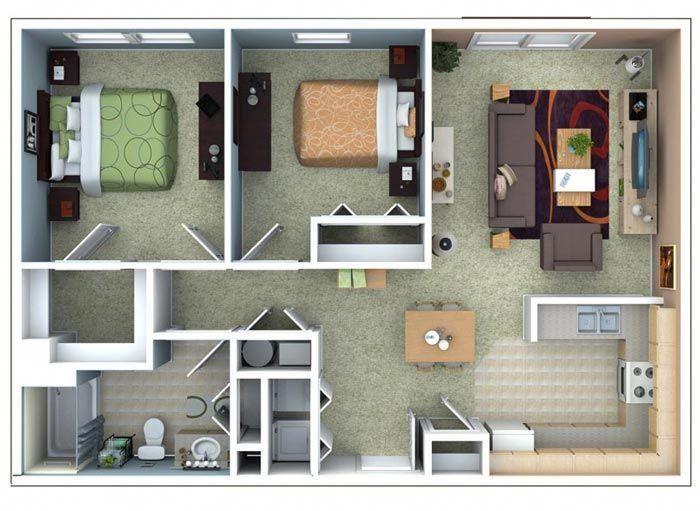 Three Bedroom Flat Layout Google Search Departamentoschicos Small Apartment Floor Plans Apartment Layout Condo Floor Plans