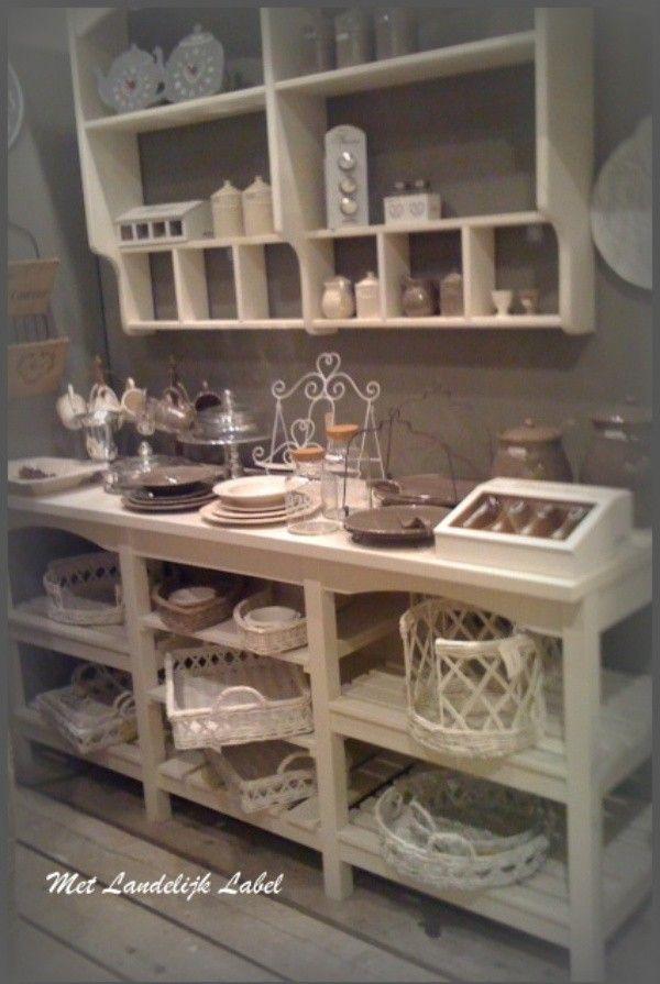 Gezellige keukenspulletjes voor een landelijk effect!! Zie de site van: Met Landelijk Label. nl