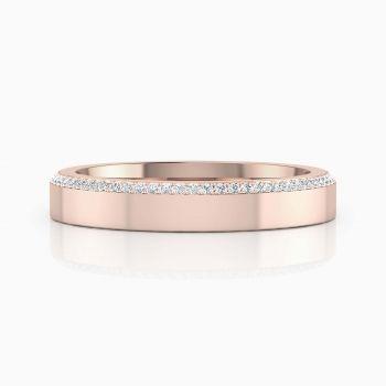 #Alianza de #boda de #oro #rosa y 68 #diamantes https://www.clemenciaperis.com/es/alianzas-de-boda/alianza-de-boda-oro-rosa-80-diamantes-020
