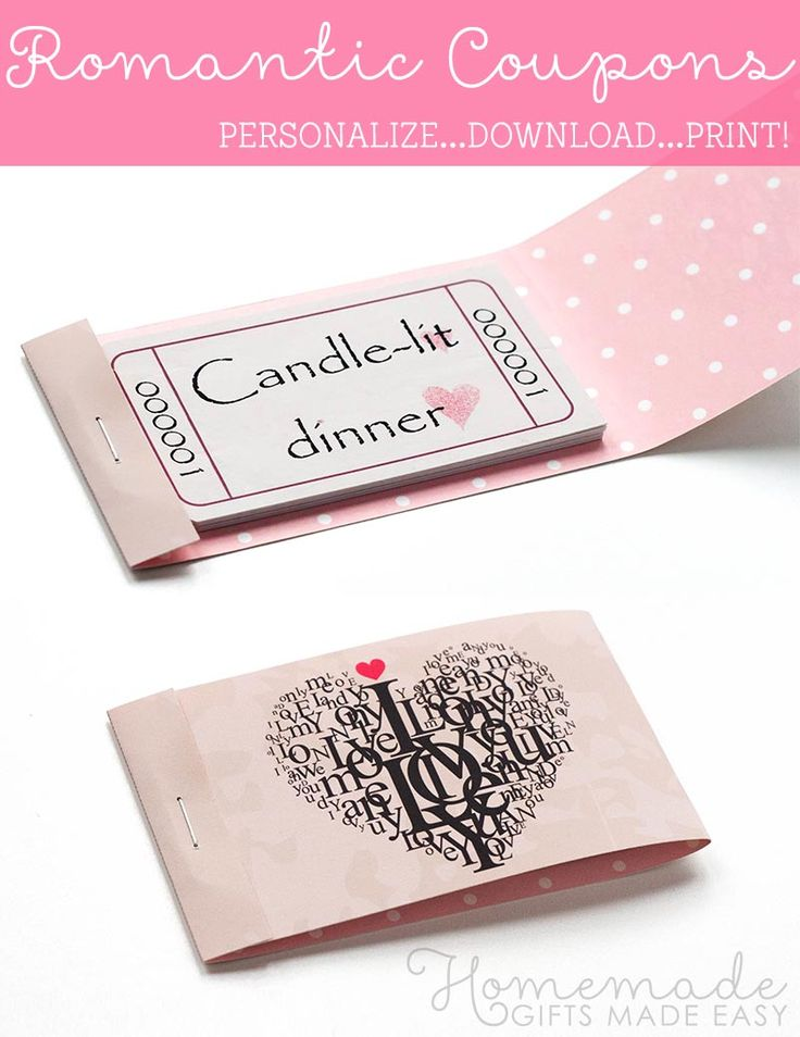 valentine coupon booklet