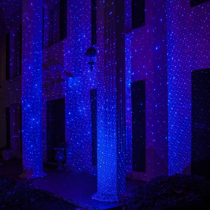 Blue X500 Laser Christmas Light Projector -  With just the push of a button you can transform a woodline or garden area into an enchanting display.