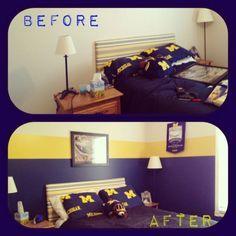 University Of Michigan Themed Bedroom Google Search