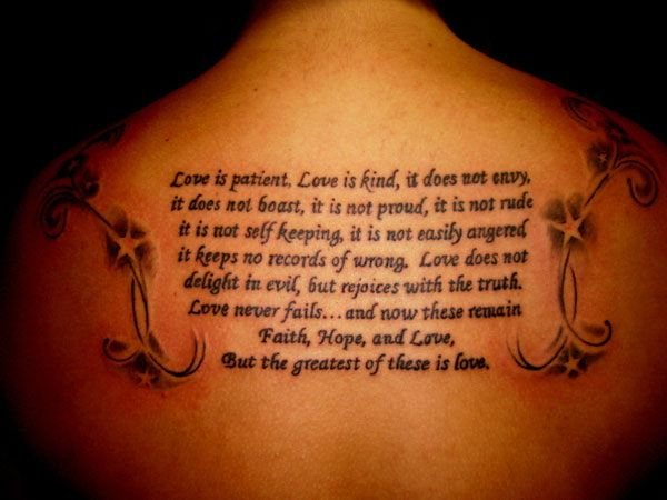 1 corinthians 13 4 8 niv tattoo tattoo pinterest christ best bible verses and tattoos. Black Bedroom Furniture Sets. Home Design Ideas
