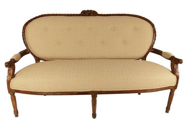 Antique 18th-C. French    Sofa
