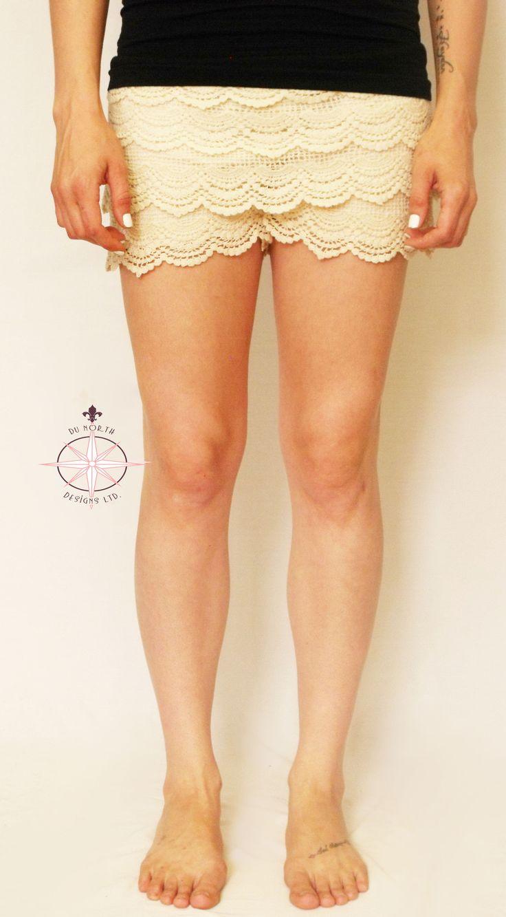 Ladies Crochet Wave Shorts ***Various Colours - Du North Designs
