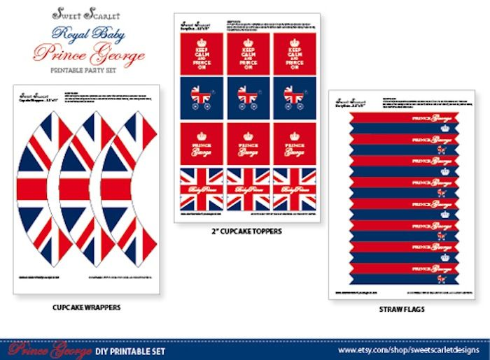 Royal Baby Prince George FREE Printables! - Kara's Party Ideas - The Place for All Things Party