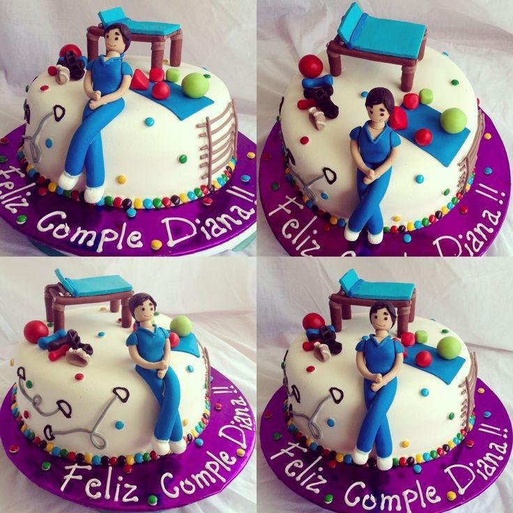 Torta Cumpleaños Fisioterapia. Tata-Sabores Tortas y Postres