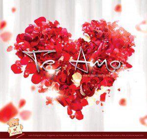 Corazón de pétalos de rosas con frase Te Amo - http://www.imagenesdeamor.pro/2013/09/corazon-de-petalos-de-rosas-con-frase-te-amo.html