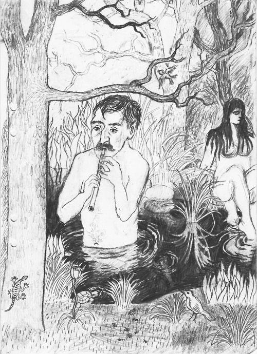 LP6. Without title, Leo Park. Original artwork. Pencil on paper. Size A4.   www.leopark.se