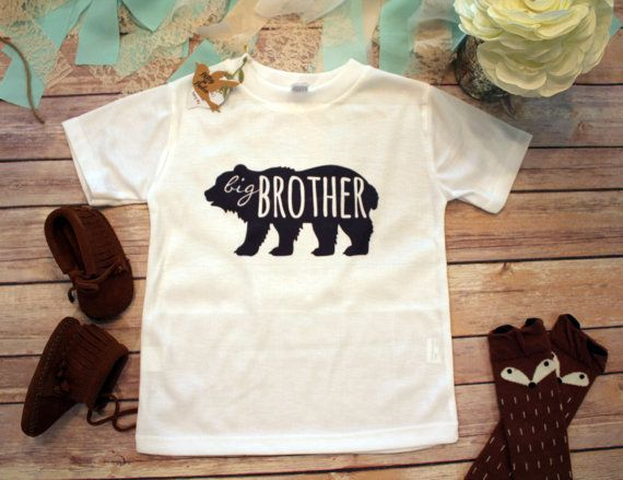 df32cfa0f Big Brother Shirt, Brother Bear Shirt, Hipster Baby Clothes, Boho Baby  Clothes, Big Brother Little, Baby Shower Gift, Bodysuit, Rustic Baby