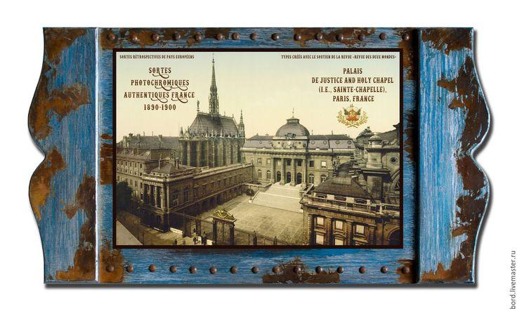 """Купить Панно """"Страницы синей книги"""". Франция 005 - панно для интерьера, панно, лофт, прованс"""
