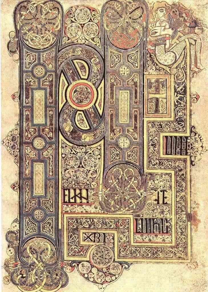 Illuminated Manuscript Irish Celtic Knotwork