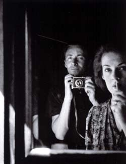 #AlbertTucker and #JoyHester: #selfportrait with #FothDerby #camera. #Melbourne. #1940s.
