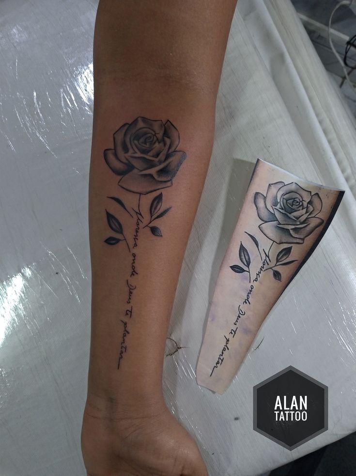 Tattoo rosa! #tattoo#tattoos#rosa#girls
