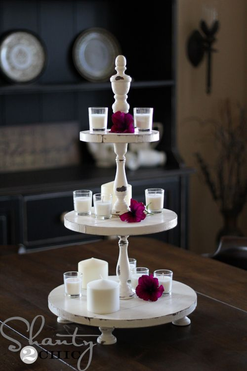 DIY Shanty Cupcake Tower: Easy Gift, Cupcake Stands, Gift Ideas, Diy Cupcake Stand, Rustic Centerpieces, Diy Rustic Cupcake Stand, Chic Tower