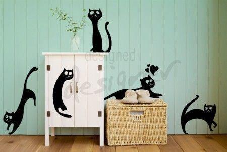 Les chats sont partout - dd1026 amovible graphique Wall Decal