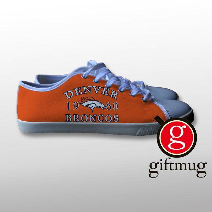 Denver Broncos 1960 Canvas Shoes #shoes #denver #broncos #canvas #gift