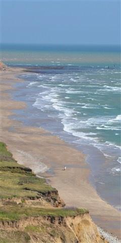 West Wight coastline and beach