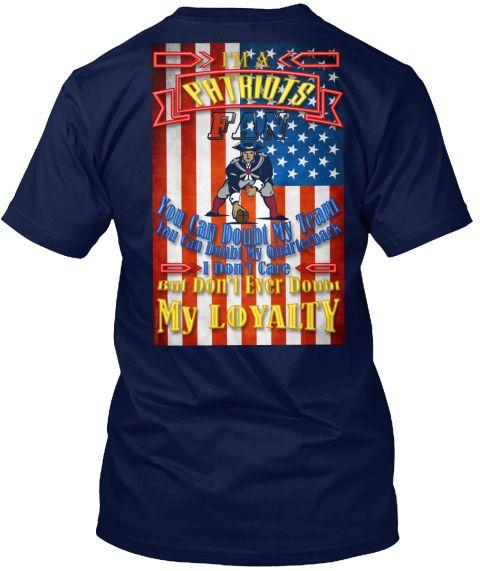 Pats Fan Loyalty  Navy T-Shirt Back