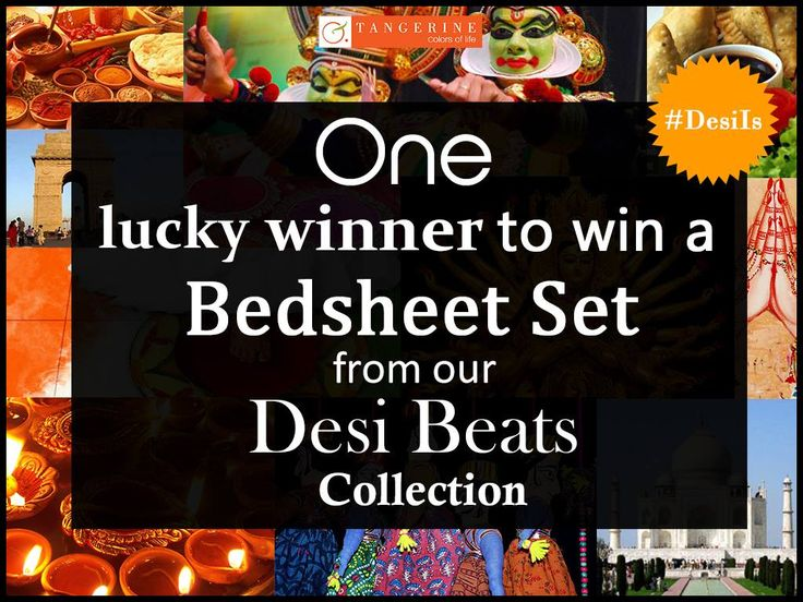 Want to win the amazing Desi Beats Bedsheet Set Collection? all you have to do is participate in our contest