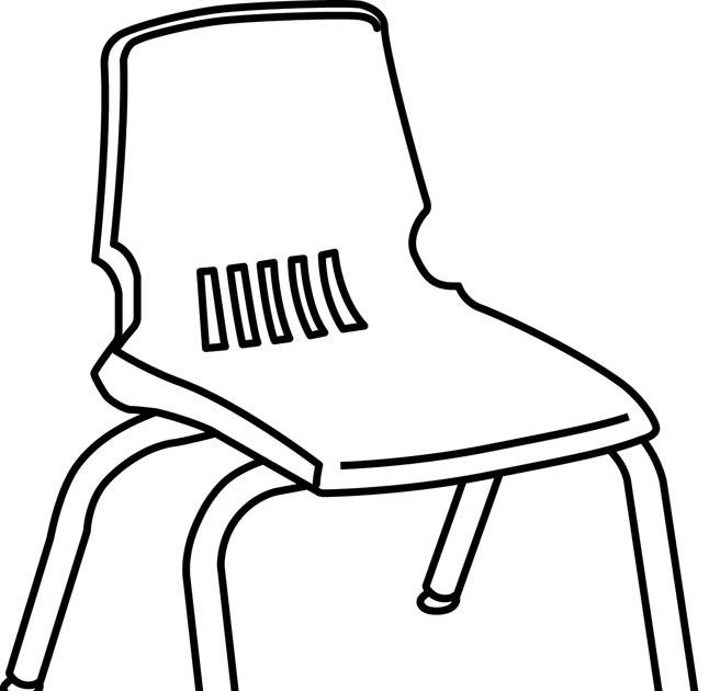 Free Chair Line Art Download Free Clip Art Free Clip Art Stool Chair Sofa And Bench Outline Icon In 2020 Black And White Beach Clipart Black And White Beautiful Chair