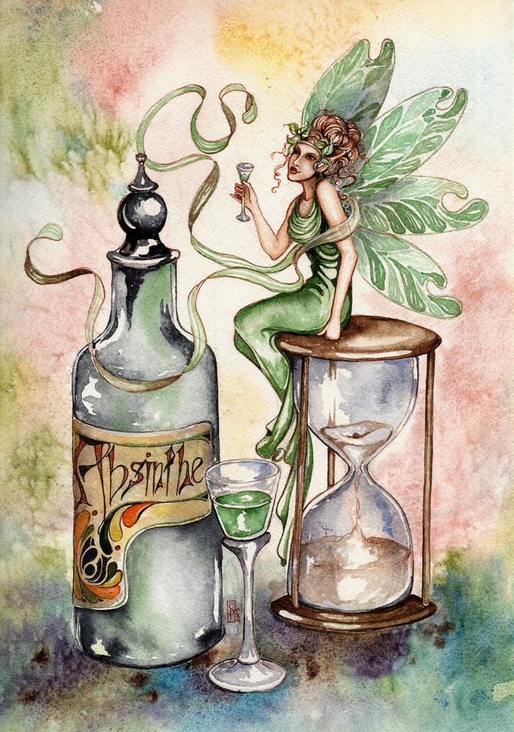 "Goth: #Absinthe ~ ""Green Fairy Absinthe,"" by whytLilith, at deviantART."