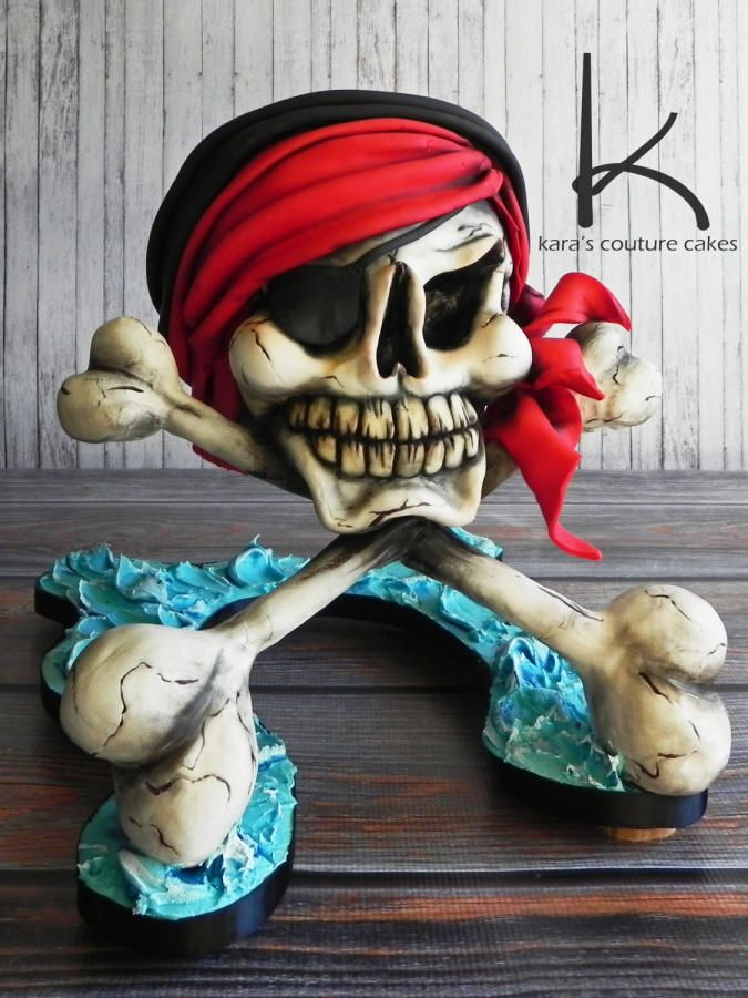 3D Swashbuckling Skull and Crossbones
