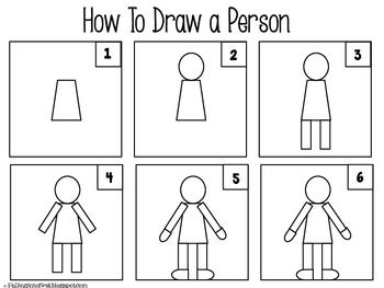 how to draw a person standing sideways step by step