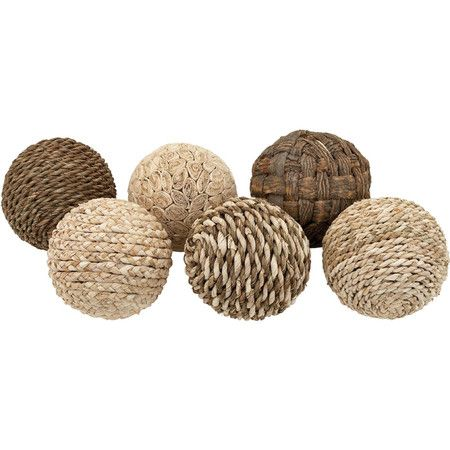 Naturelle Orb Decor Set (Set of 6) at Joss and Main