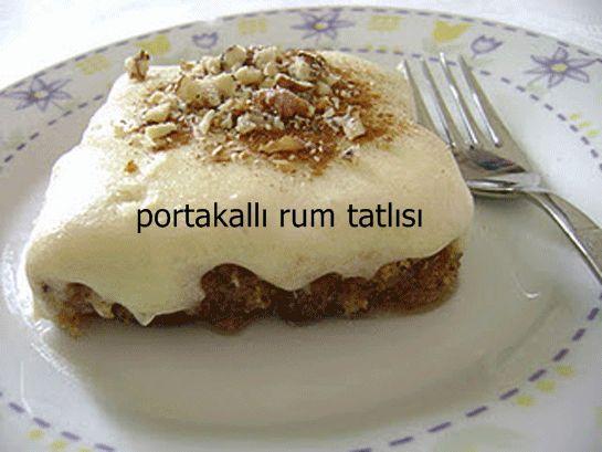Rum tatlısı, Kıbrıs tatlısı olarak da bilinen bir tatlı türü. Şerbetli bir tatlı olan Rum tatlısına portakal aroması katmak için portakal kabuğu rendesi kulanıyoruz. Portakalın enfes aroması ile muhteşem bir lezzete sahip olan Rum tatlısını mutlaka siz de denemelisiniz.