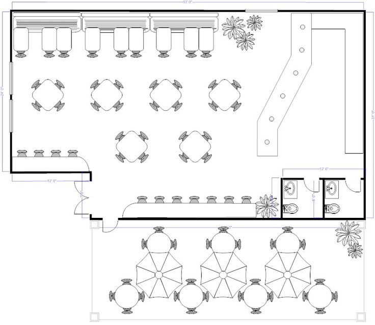 Restaurant Kitchen Layout Autocad: Coffee Shop Floor Plan