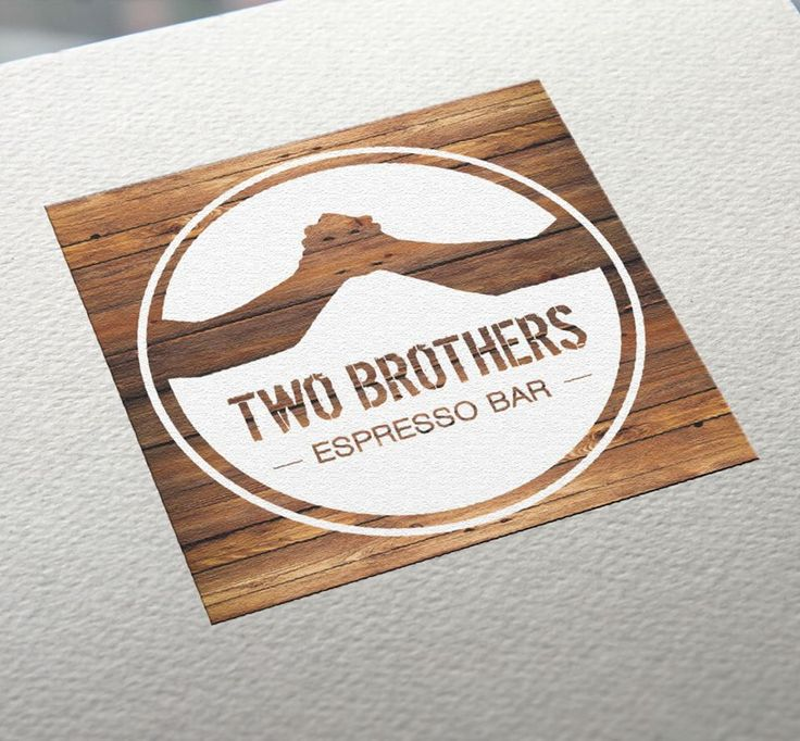 Logo I designed for the Espresso Bar 'Two Brothers' in Newcastle