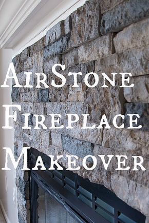 AirStone Fireplace Makeover. Done and done! Loved using the AirStone, so easy! Would definitely use it again.