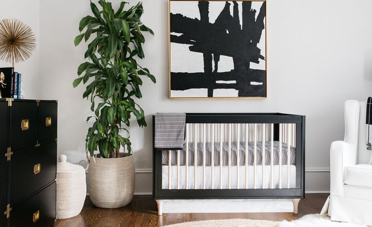 You are going to love Emily Maynard's nursery. This sophisticated black and white space falls into the trend of nurseries that don't look like nurseries.