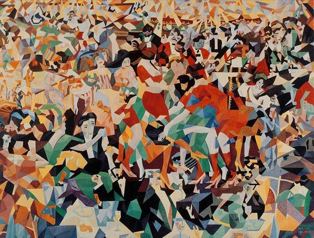 "Gino Severini The Dance of the Pan-Pan at the ""Monico"""