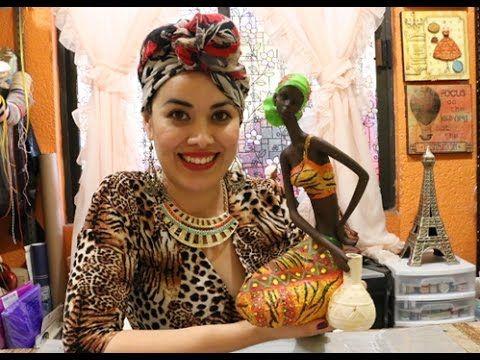 Pinta  una Africana con Piedra Pomex  y Polvos de Mármol - YouTube