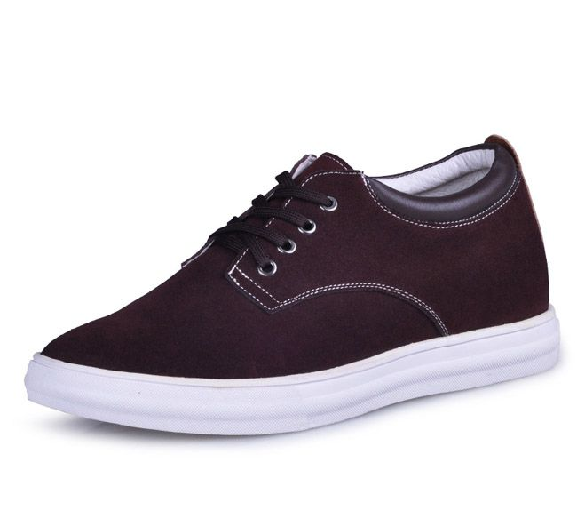 Brown  shoes that make men taller 6cm / 2.36inch with the SKU:MENJGL_C153_4 - Brown men elevator casual shoes get taller 6cm / 2.36inches