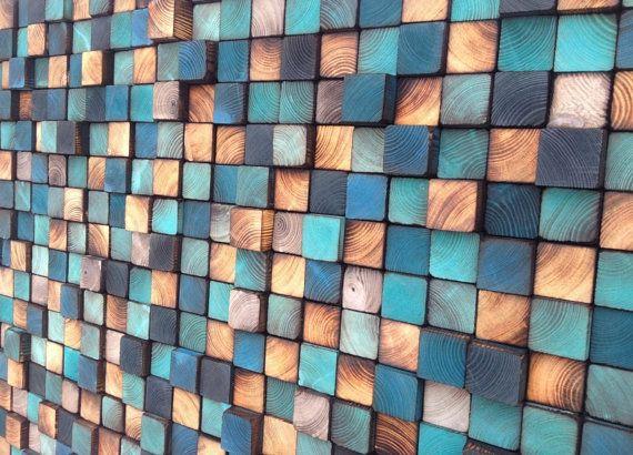 Kunst aan de muur hout - hout Art-teruggewonnen hout kunst
